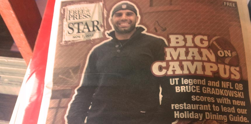 The big man on campus: Bruce Gradkowski