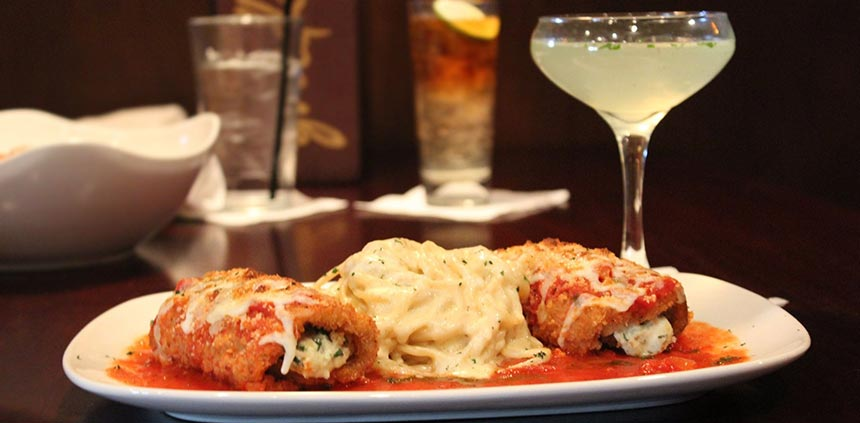 Vegetarian option available, like our Eggplant Rollatini.